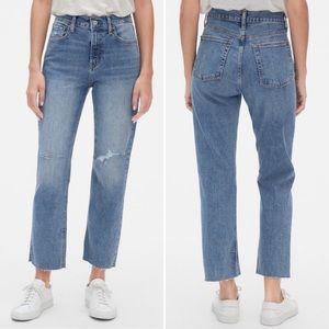 GAP Raw Hem Cheeky Straight High Waist Jeans 28 6